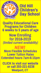 Old Hill Children's Day School - for children 6 weeks to 5 years of age - Westport - 203-221-8238