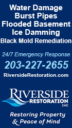 Riverside Restoration will help get you back to normal - 24/7 Emegency Response 203-227-2655