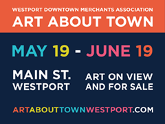 Art About Town - exhibit and artwork for sale until June19, 2016 all on Main Street, Westport CT